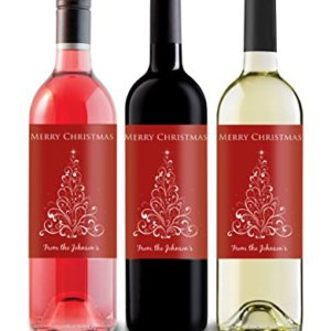 Red Or White Wine For Wedding Gift : ... Wine Label, great gift idea for family & friends, red with white tree