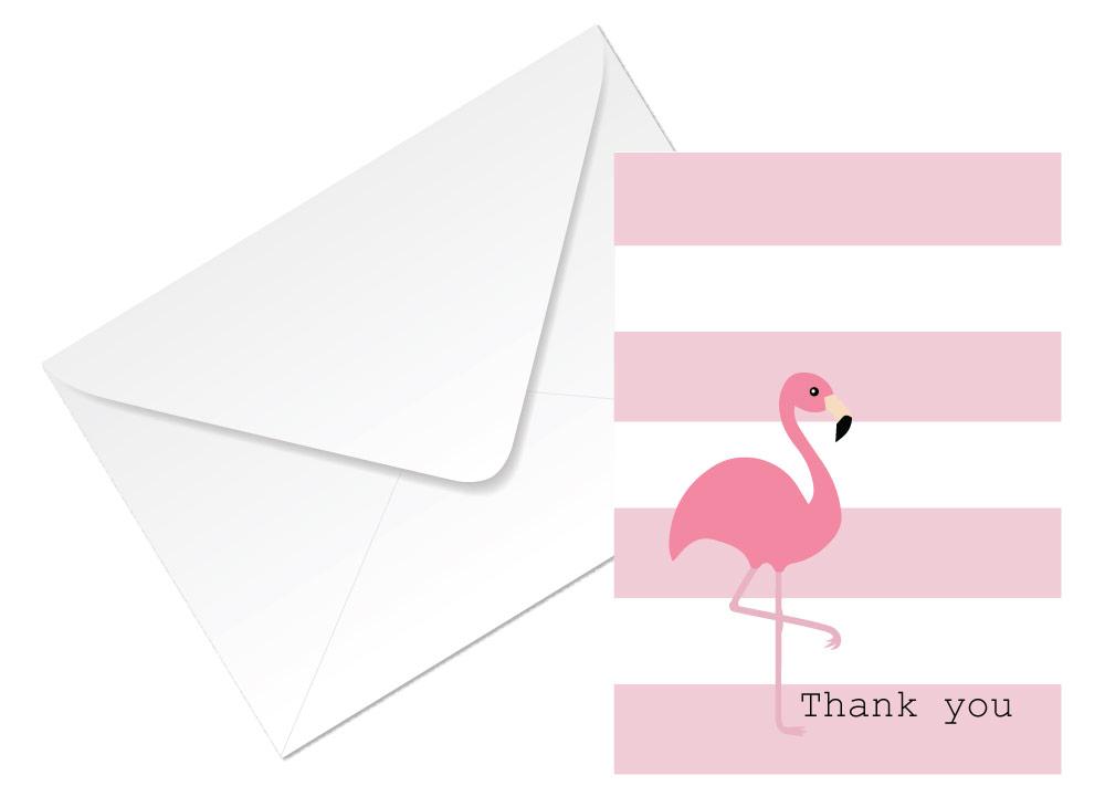 Very Thank you cards – flamingo design – 24 x A6 cards – 4 colours to  WW39