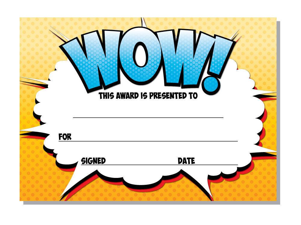 Award Certificates Wow 16 X A6 Perfect For Any Award Teachers Kids on Bingo Cards
