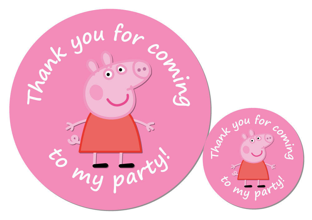 peppa pig party stickers 30 mm or 60 mm diameter great for party