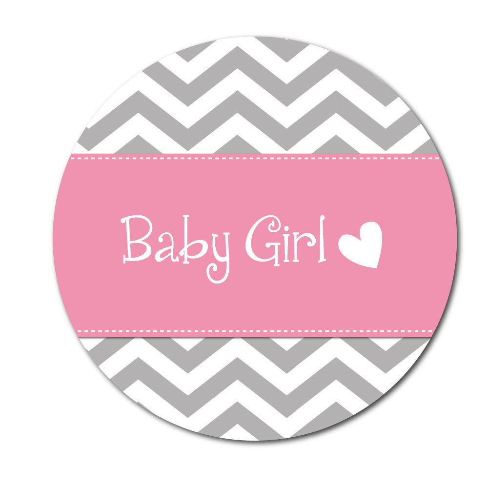 Baby Girl Stickers Chevron Design Crafts Cards Shops 144 In